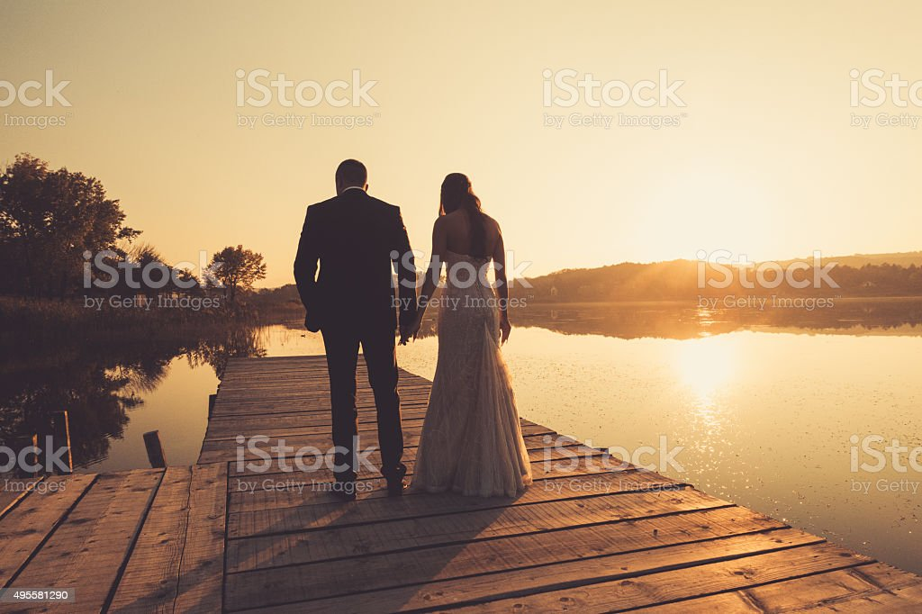 Romantic walk stock photo