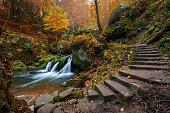 romantic waterfall in Luxemburg