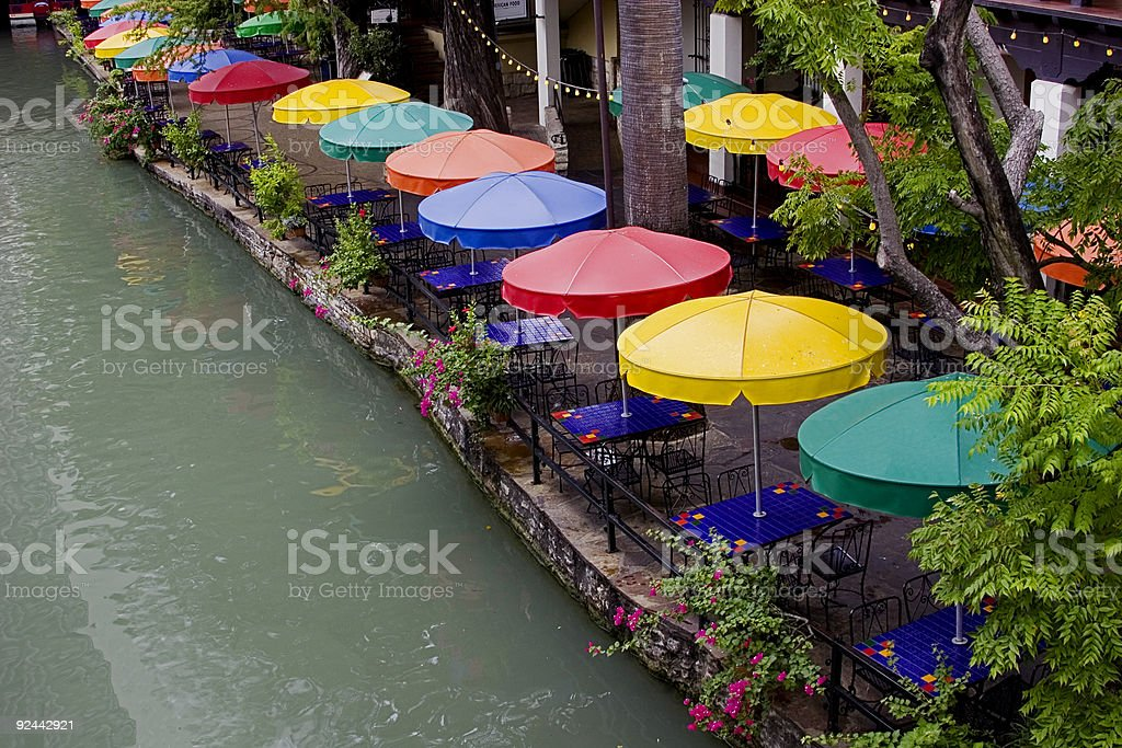Romantic Waterfront Dining. royalty-free stock photo