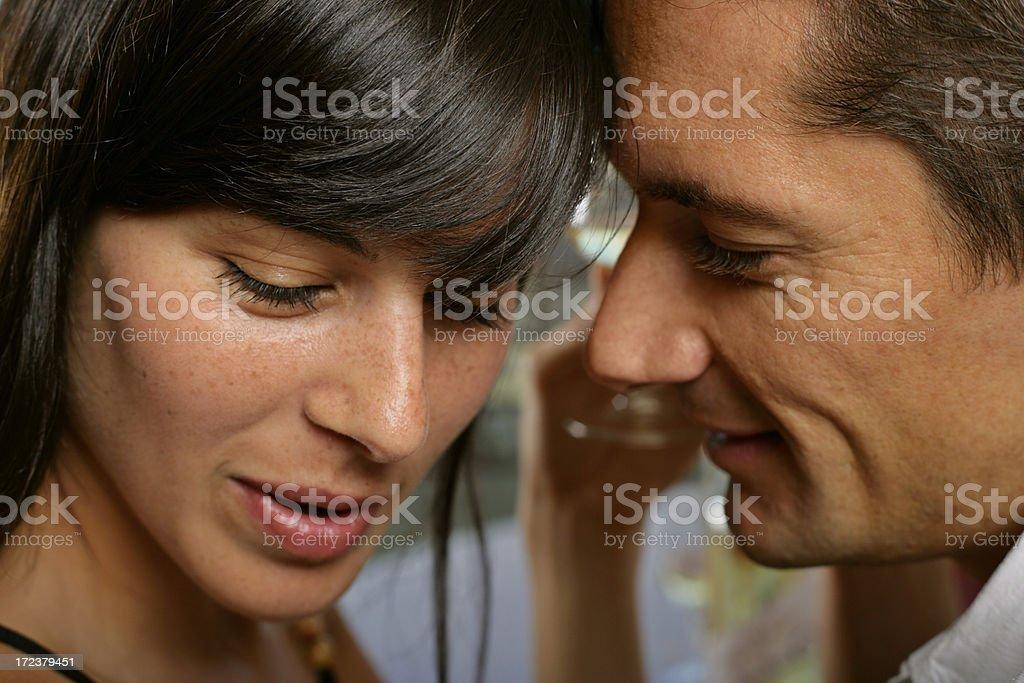 Romantic whispers royalty-free stock photo