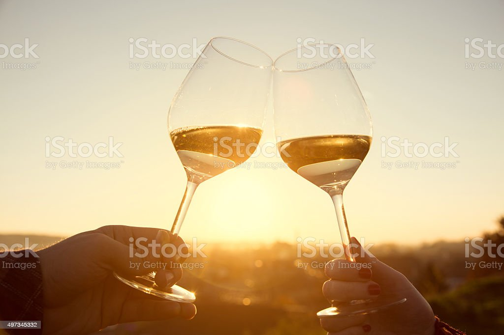 Romantic Wine Tasting stock photo