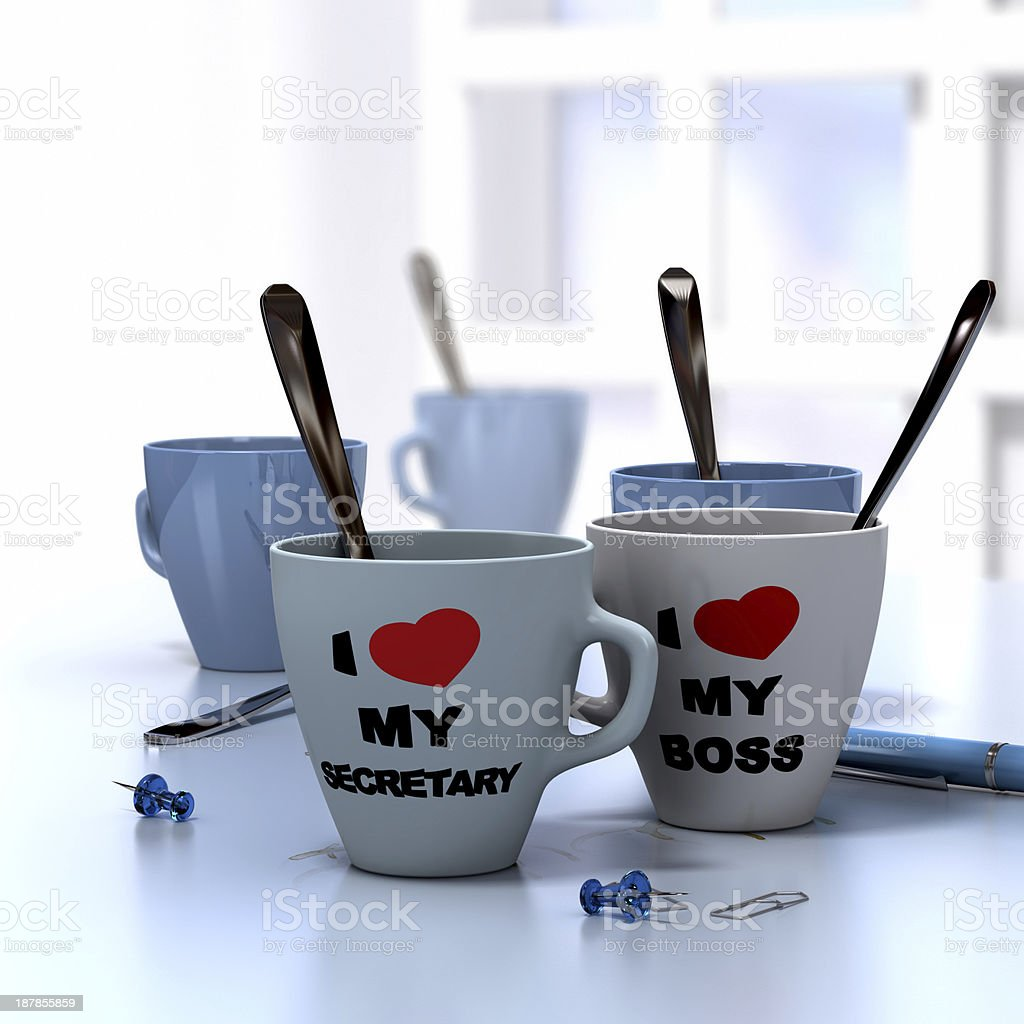 Romantic Workplace Relationship royalty-free stock photo