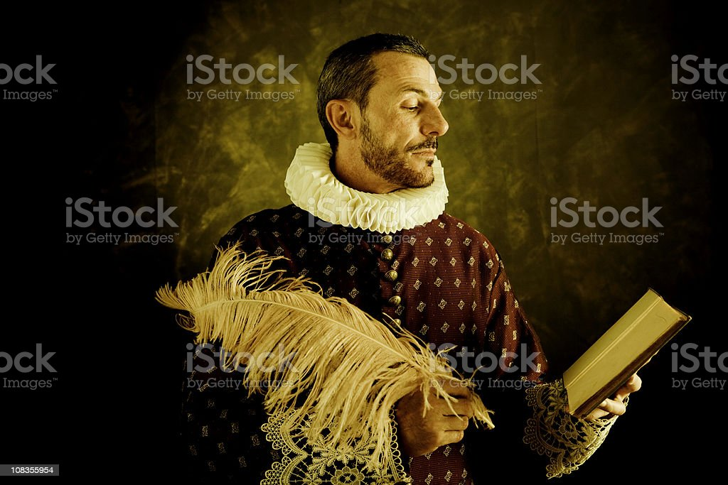 Romantic writer stock photo