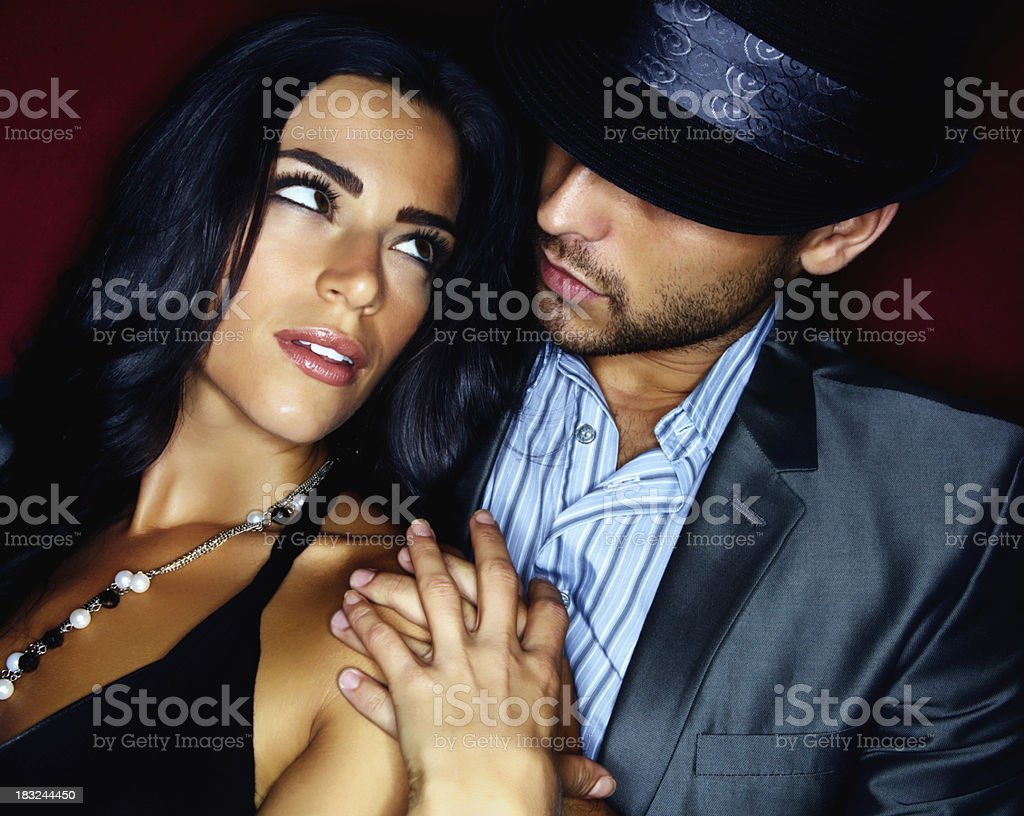 Romantic young couple looking at each other royalty-free stock photo