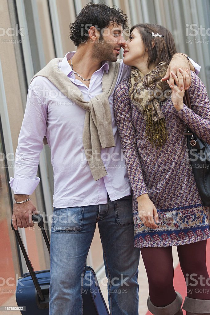 Romantic Young Couple on Vacation royalty-free stock photo