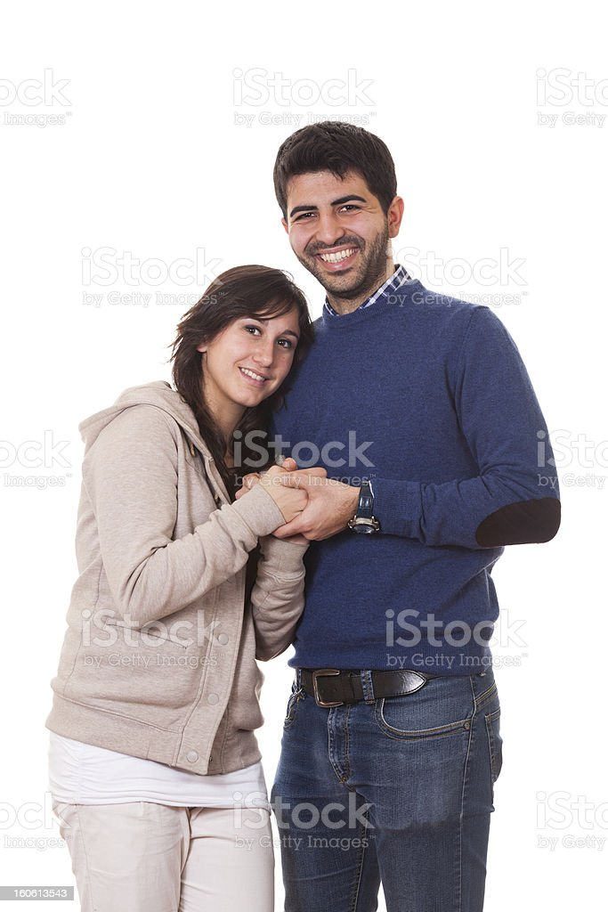 Romantic Young Couple, Valentine's Day royalty-free stock photo