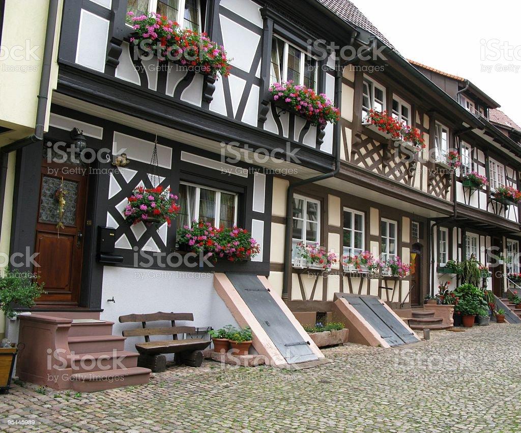 Romantische Gasse in Gengenbach royalty-free stock photo