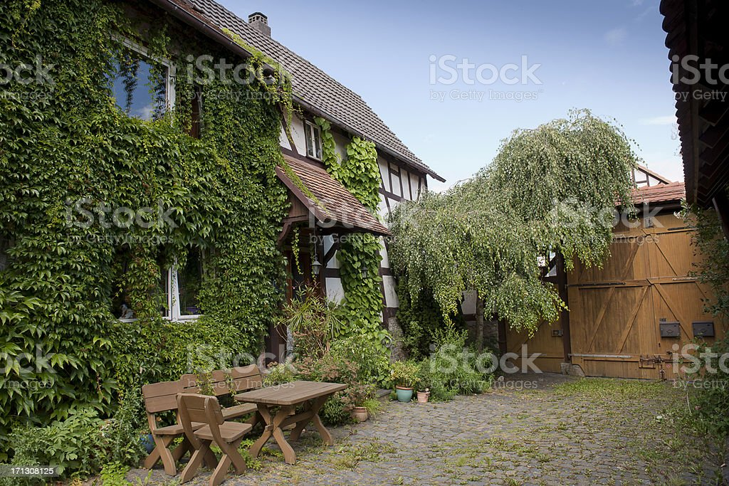 Romatical house in Germany stock photo