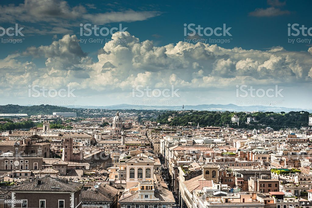 Rome aerial view stock photo