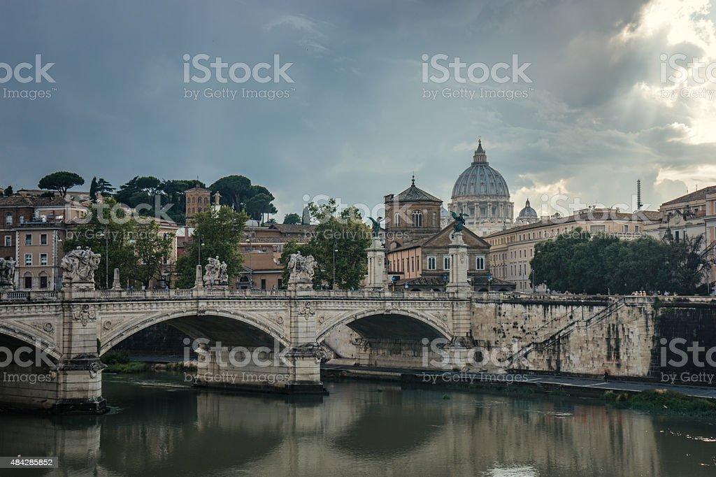 Rome after rain stock photo