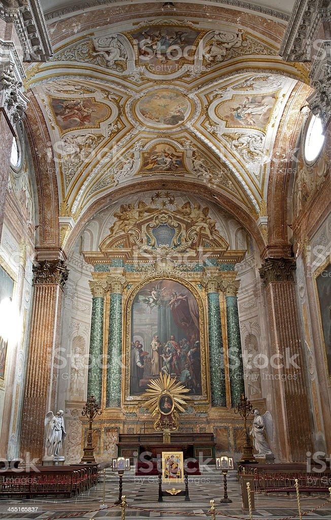 Rome -Altar from Basilica santa Maria degli Angeli stock photo