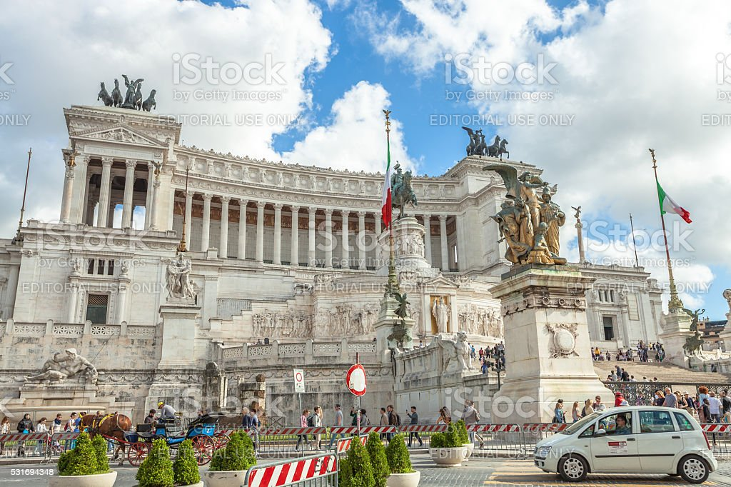 Roma Altare della Patria stock photo