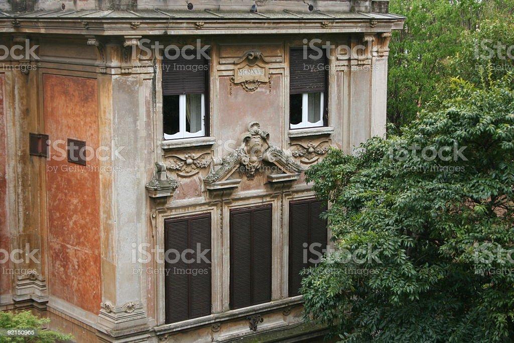 Rome ancient villa stock photo