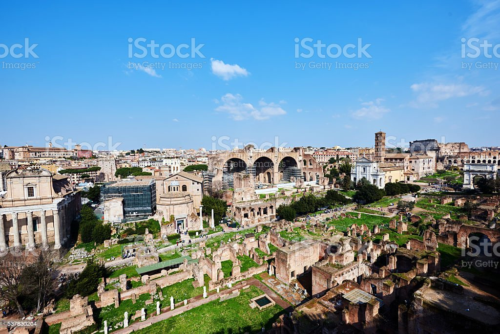 Rome and it's ruins stock photo