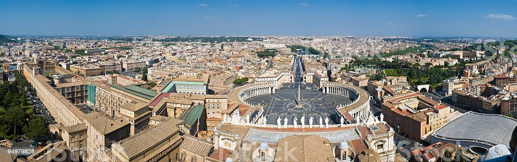 Rome and Vatican City stock photo