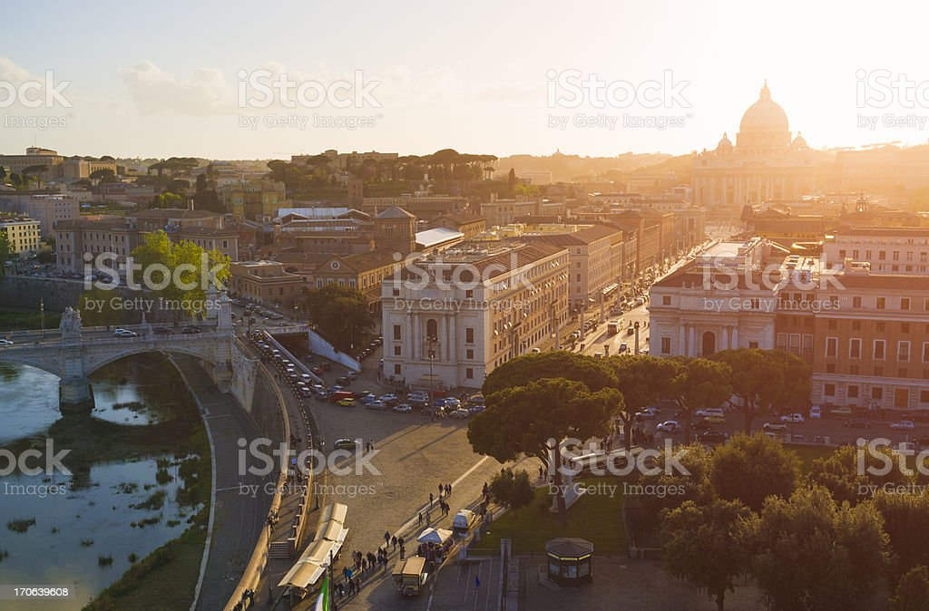 Rome and Vatican cityscape royalty-free stock photo