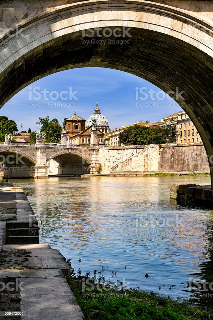 Rome and Vatican view stock photo