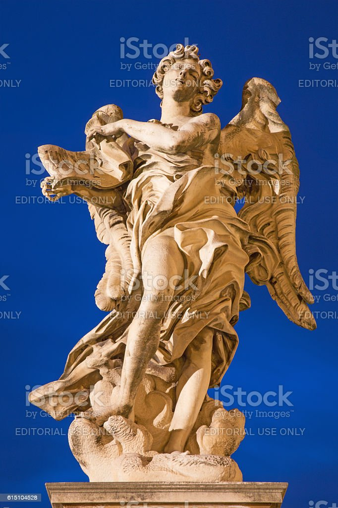 Rome - Angel stock photo
