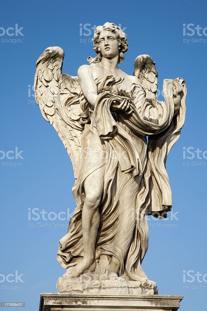 Rome - Angel with garment and dice stock photo