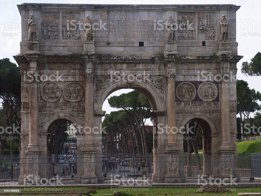 Roma - Arco di Costantino stock photo