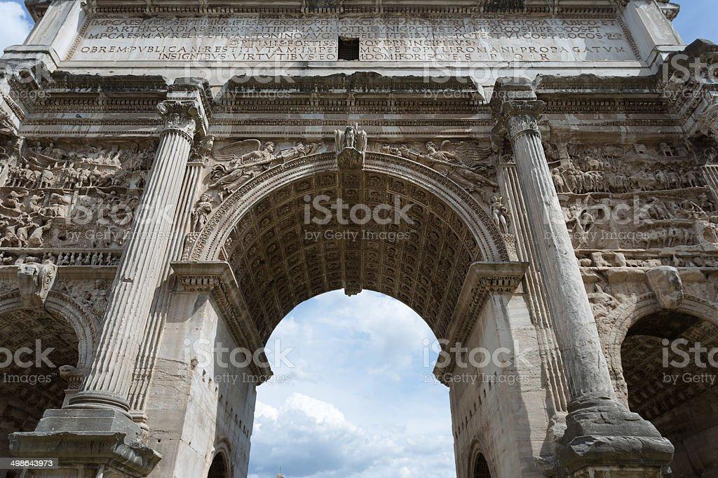 Rome: arch of septimus severius stock photo