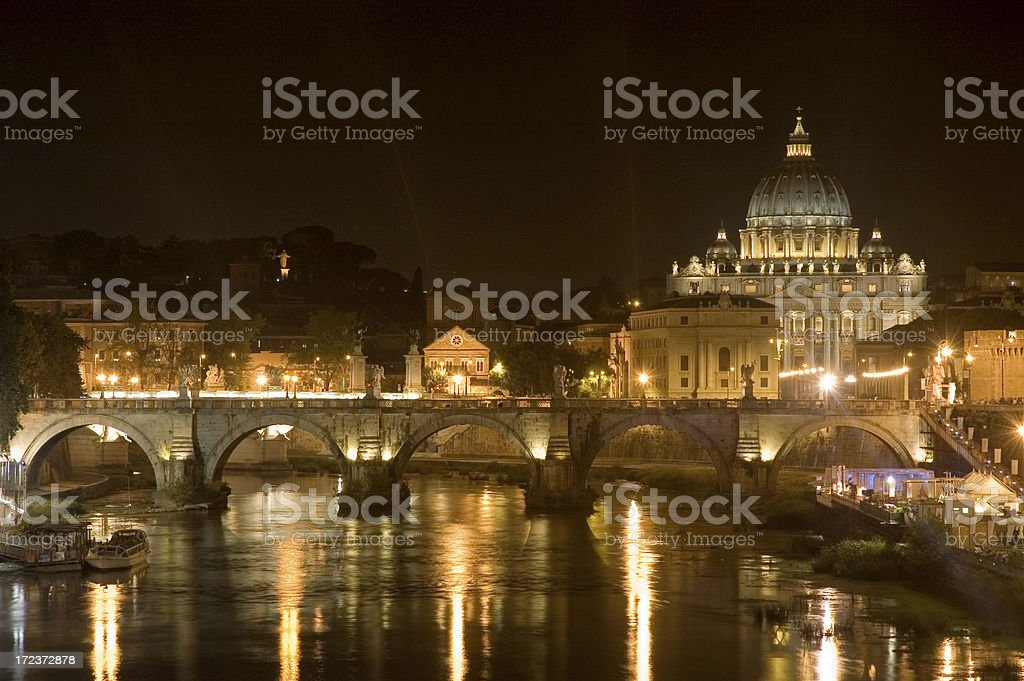 Rome at Night royalty-free stock photo