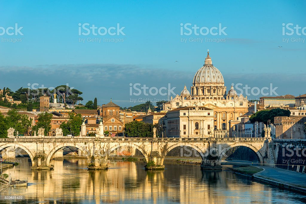 Rome at sunrise stock photo