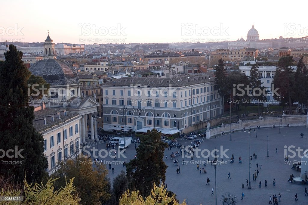 Rome at sunset 1 royalty-free stock photo