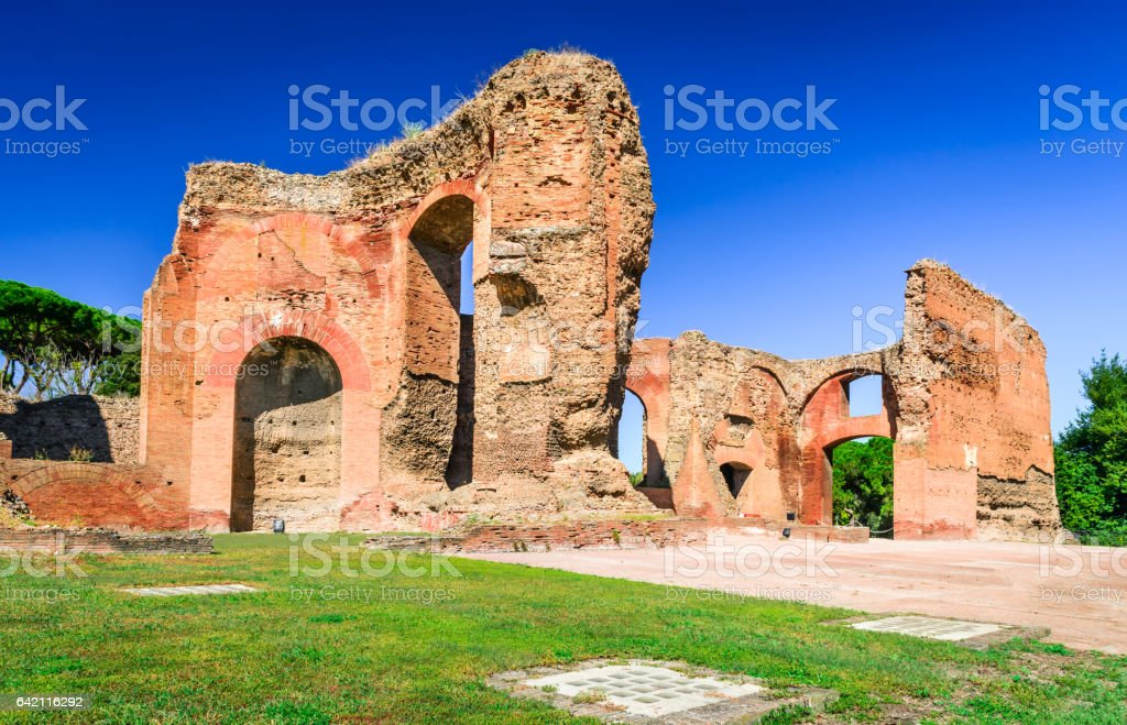 Rome, Baths of Caracalla, Italy stock photo