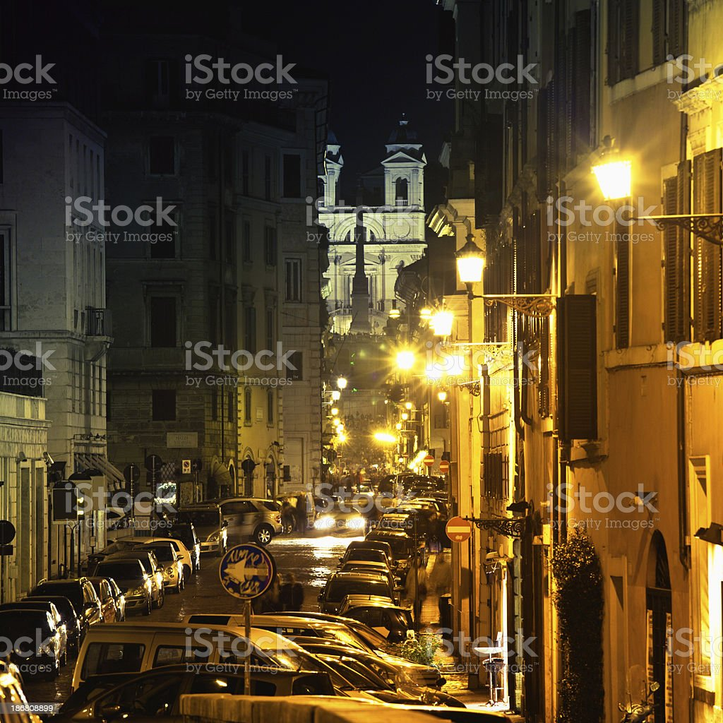Rome By Night, Piazza di Spagna royalty-free stock photo