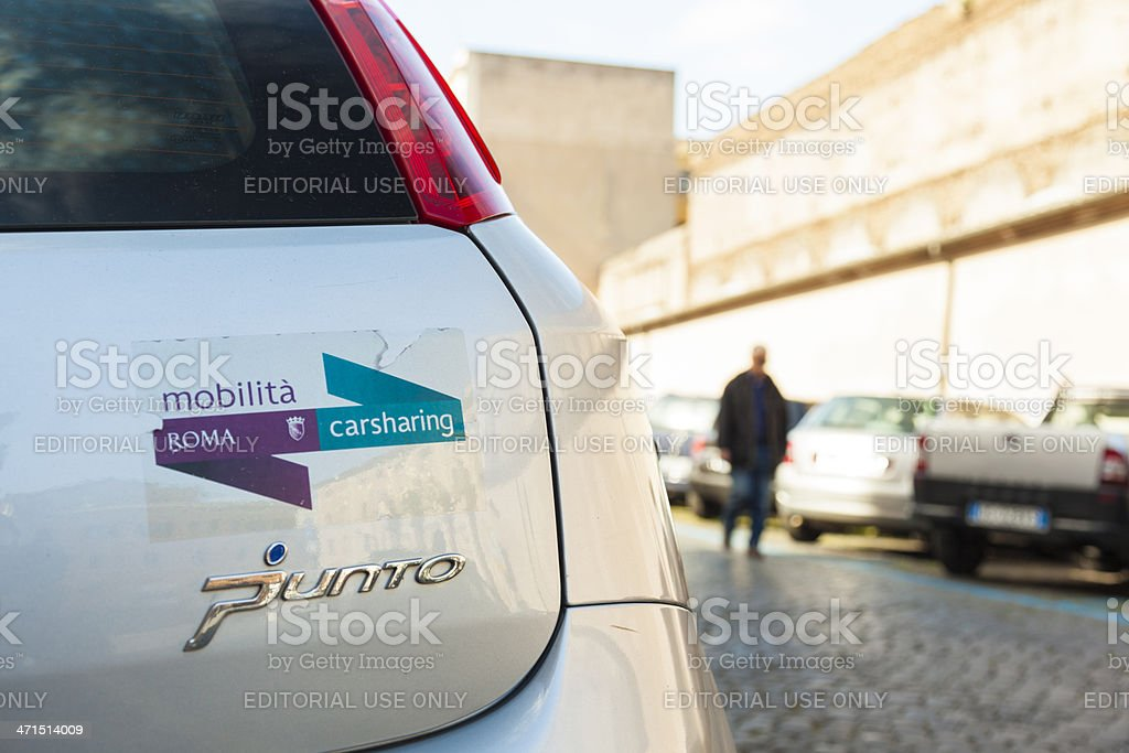 Rome CarSharing royalty-free stock photo