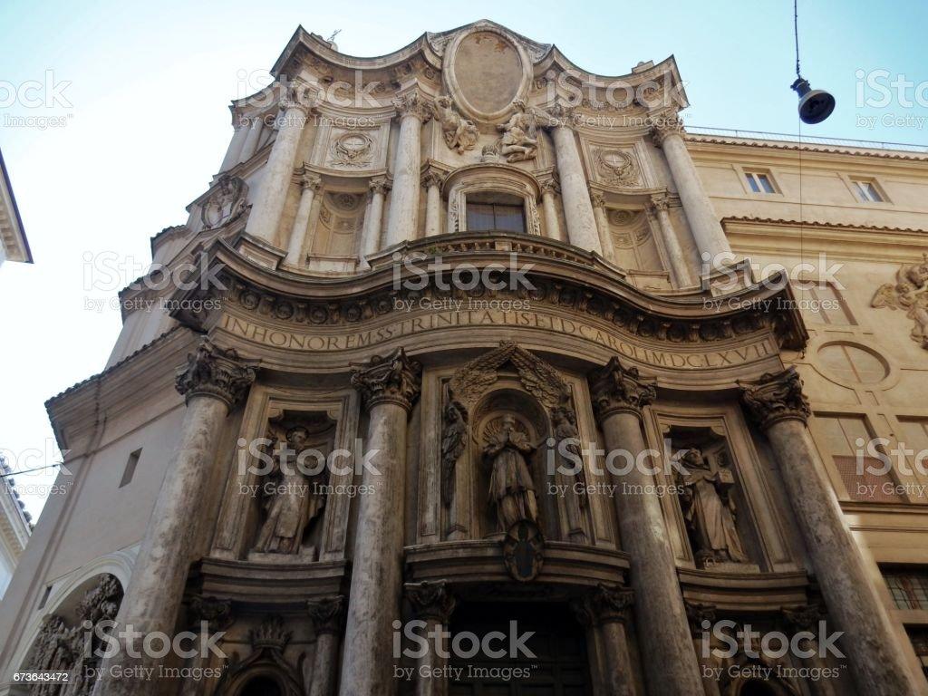 Roma - Chiesa di San Carlo alle Quattro Fontane stock photo