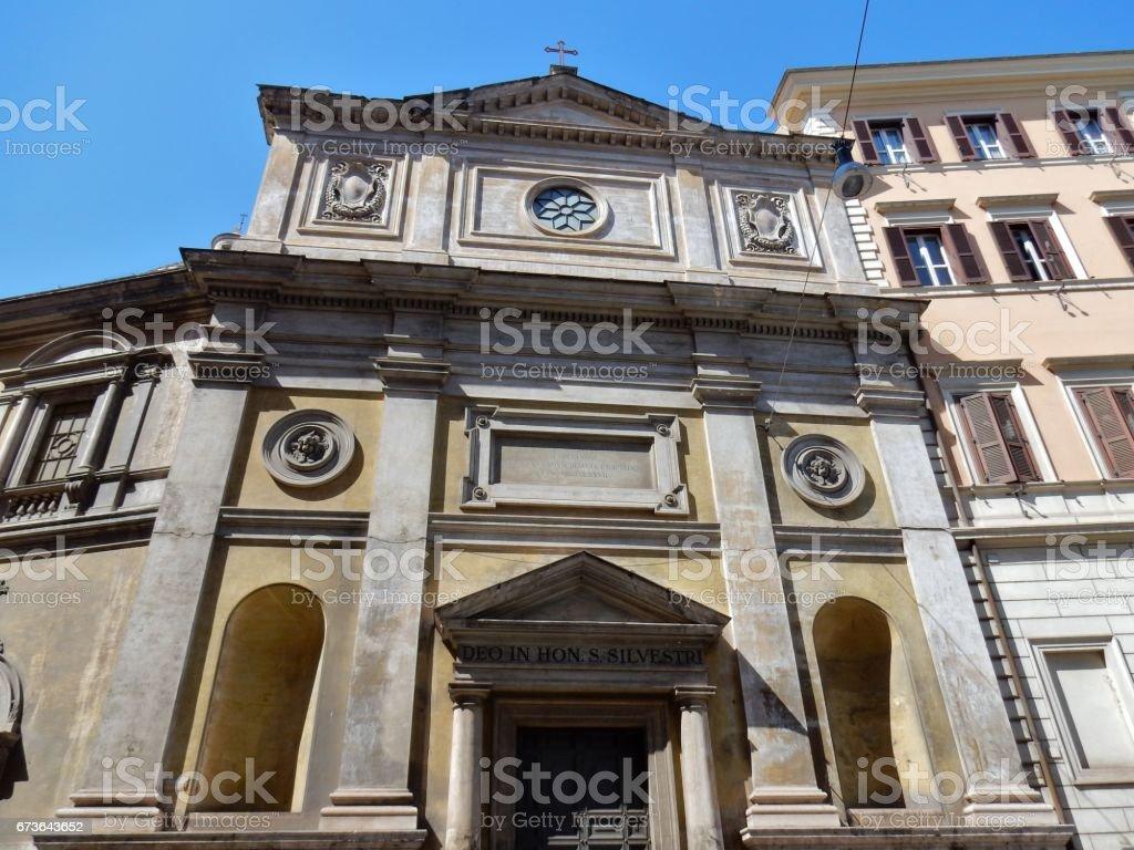 Roma - Chiesa di San Silvestro al Quirinale stock photo