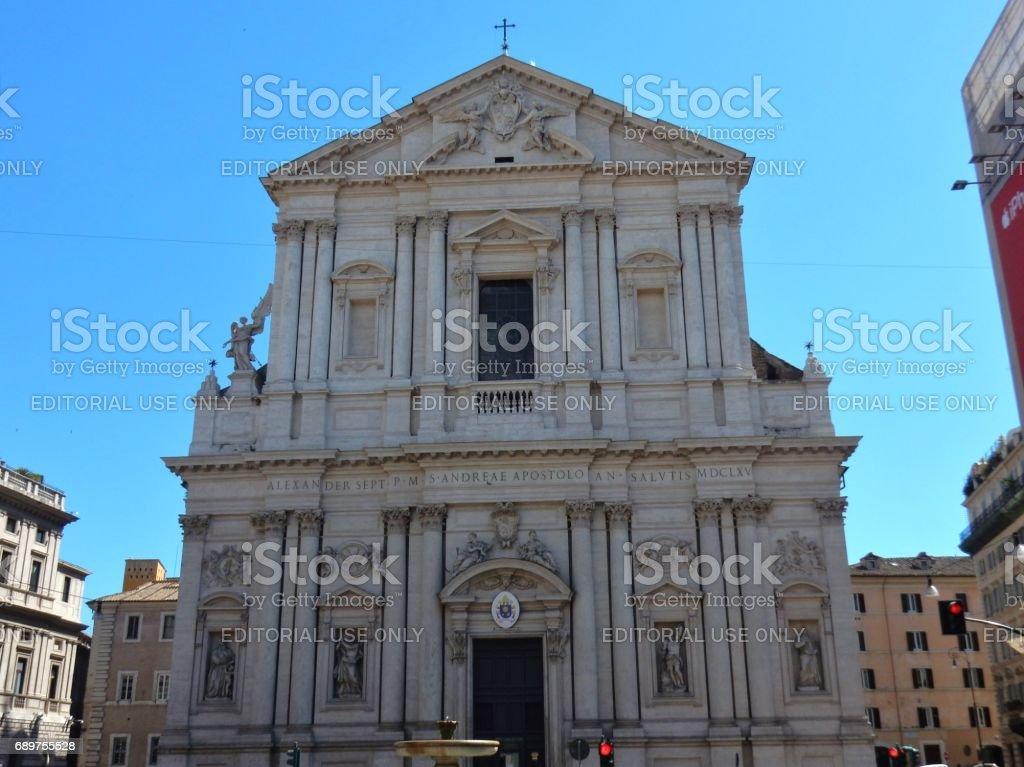 Roma - Chiesa di Sant'Andrea della Valle stock photo