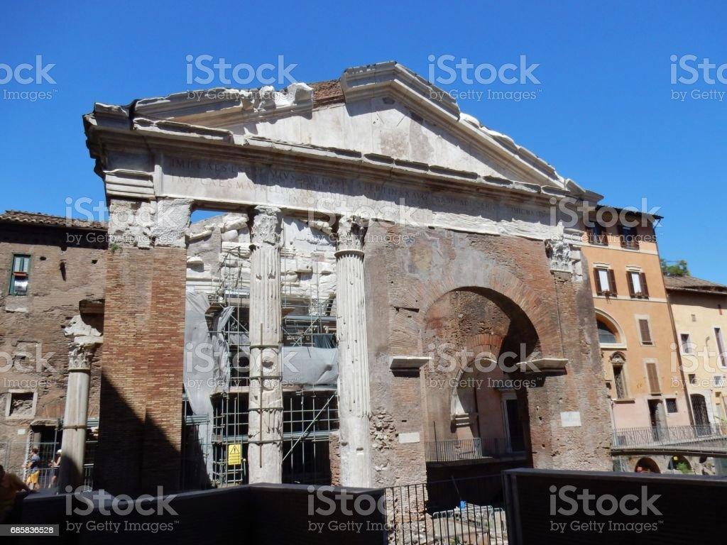 Roma - Chiesa di Sant'Angelo in Pescheria stock photo
