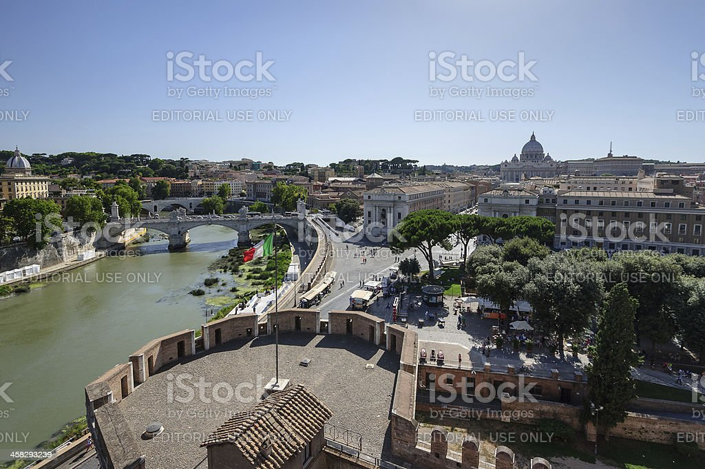 Rome Cityscape royalty-free stock photo