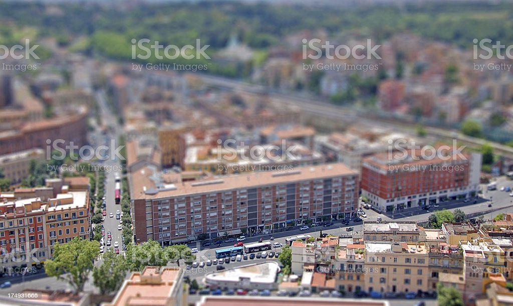 Rome cityscape tilt shift royalty-free stock photo