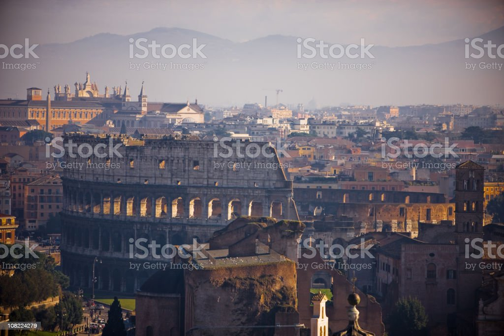 Rome Cityscape with Coliseum royalty-free stock photo