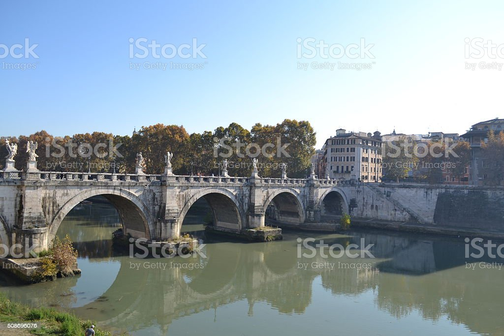 Rome Cityscape with the Tiber River stock photo