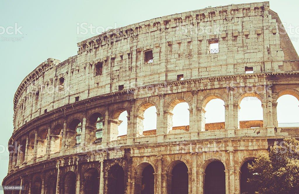Rome, Coliseum in the sun stock photo