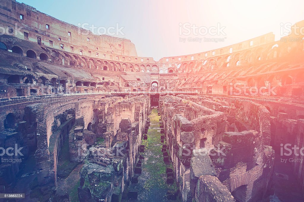 Rome, Colosseum. Internal view. stock photo