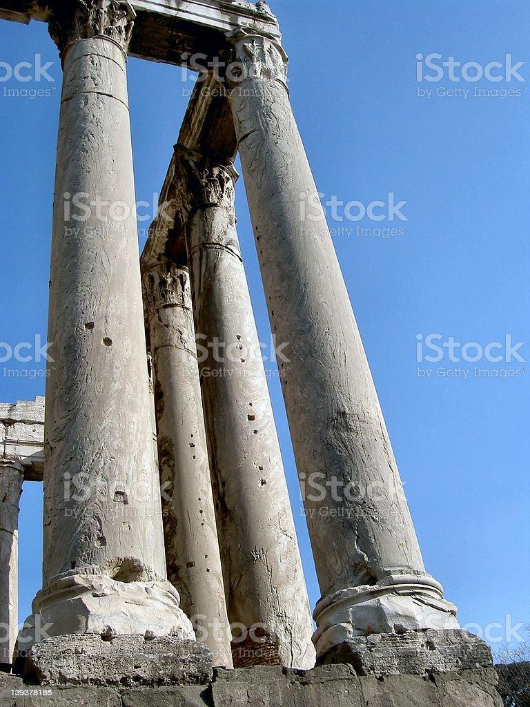 Rome: columns royalty-free stock photo