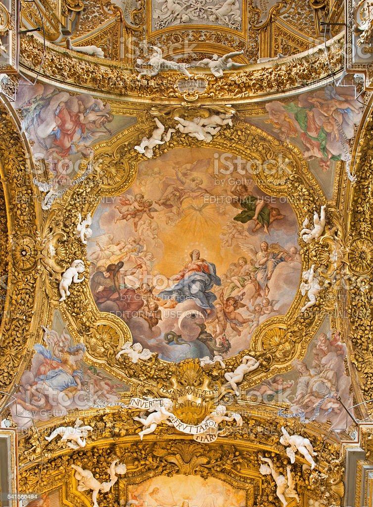 Rome - cupola in Chiesa di Santa Maria del Orto stock photo