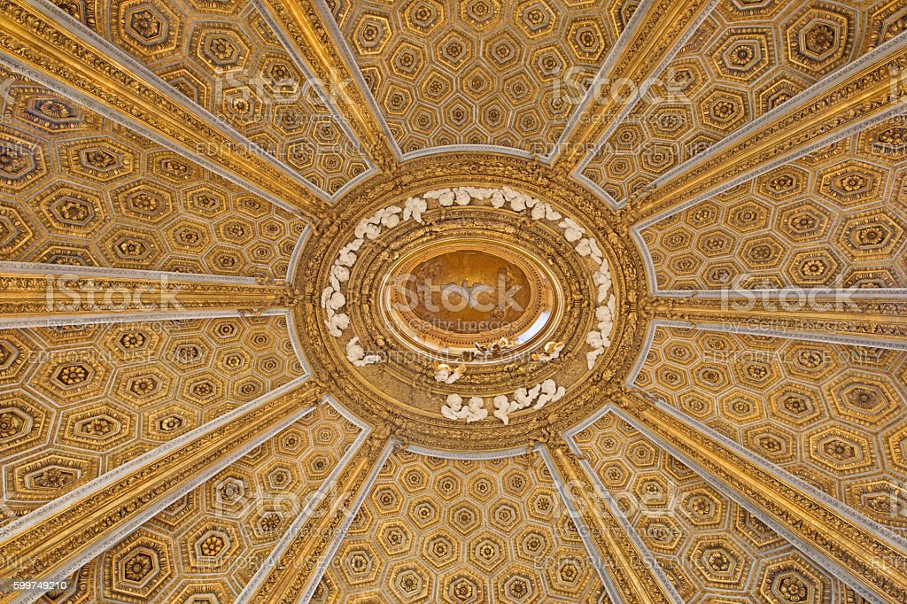 Rome - cupola of church Chiesa di Sant'Andrea al Quirinale stock photo