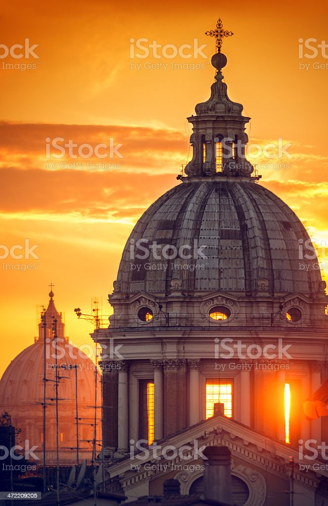 Rome Dome from Pincio Hill royalty-free stock photo