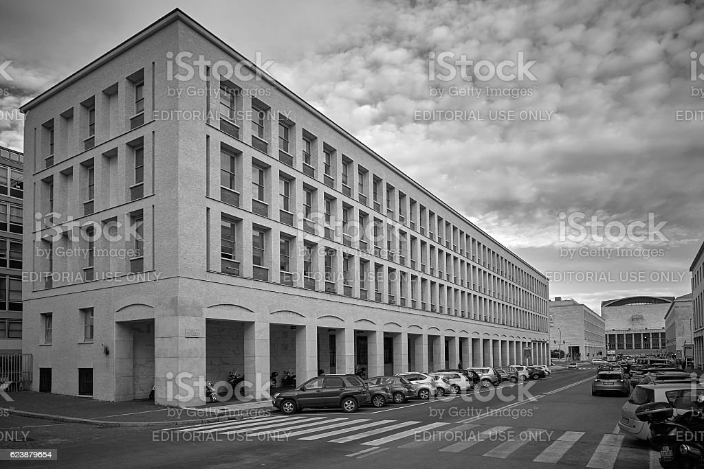 Rome, EUR district stock photo