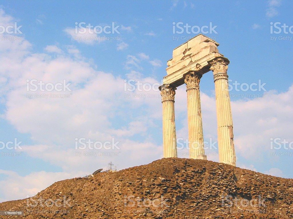Rome Fallen stock photo
