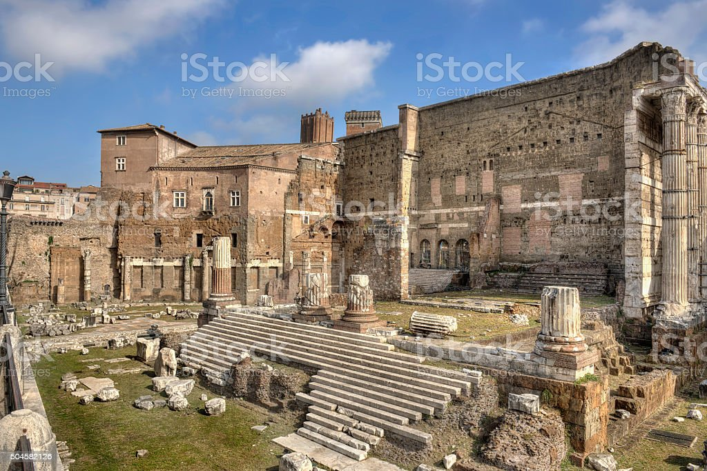 Rome, Forum of Augustus - wide view stock photo