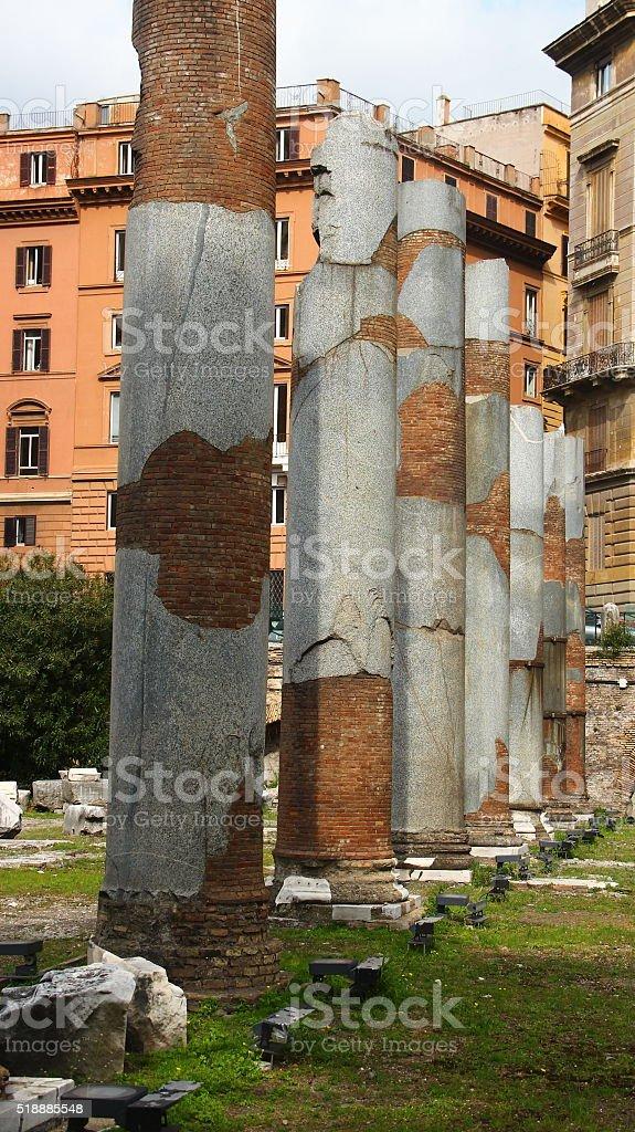 Rome, Forum of Trajan, Basilica Ulpia stock photo
