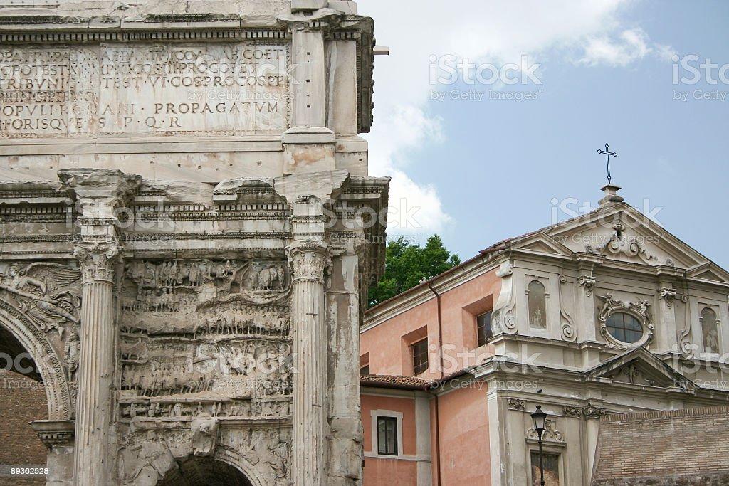 Rome Forum Romanum stock photo